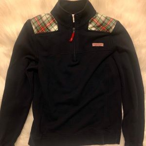 Vineyard Vines Plaid Quarter-Zip Pullover